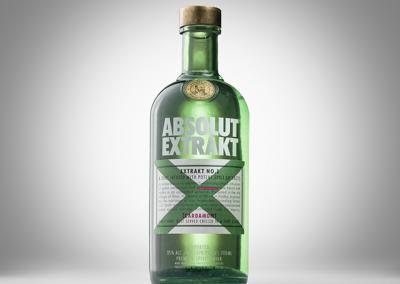product photo bottle of vodka